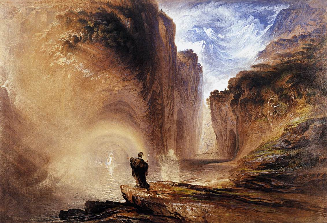 John Martin - Manfred and the Alpine Witch (1837) [Whitworth Art Gallery, Manchester]